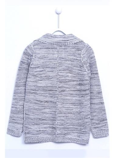 Silversun Kids Ceket Yaka Önden Düğme Kapamalı Uzun Kol Triko Hırka T 310239 Gri